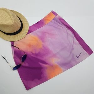 Nike Golf Tennis Tour Dri Fit Tie Dye Ombre Skirt